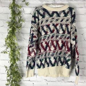 Vintage Chunky Oversized Grandpa Ski Sweater L